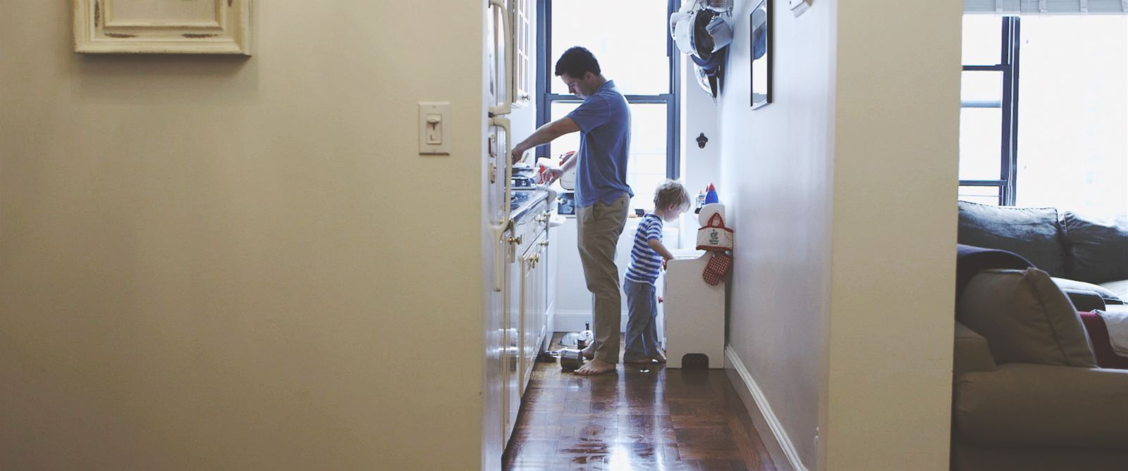 PHOTO: Finding work-life balance is a challenge not only for moms but also for dads.
