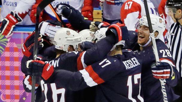 AP sochi ice hockey team usa celebrates jt 140215 16x9 608 US vs. Czechs Olympic Hockey, By the Numbers