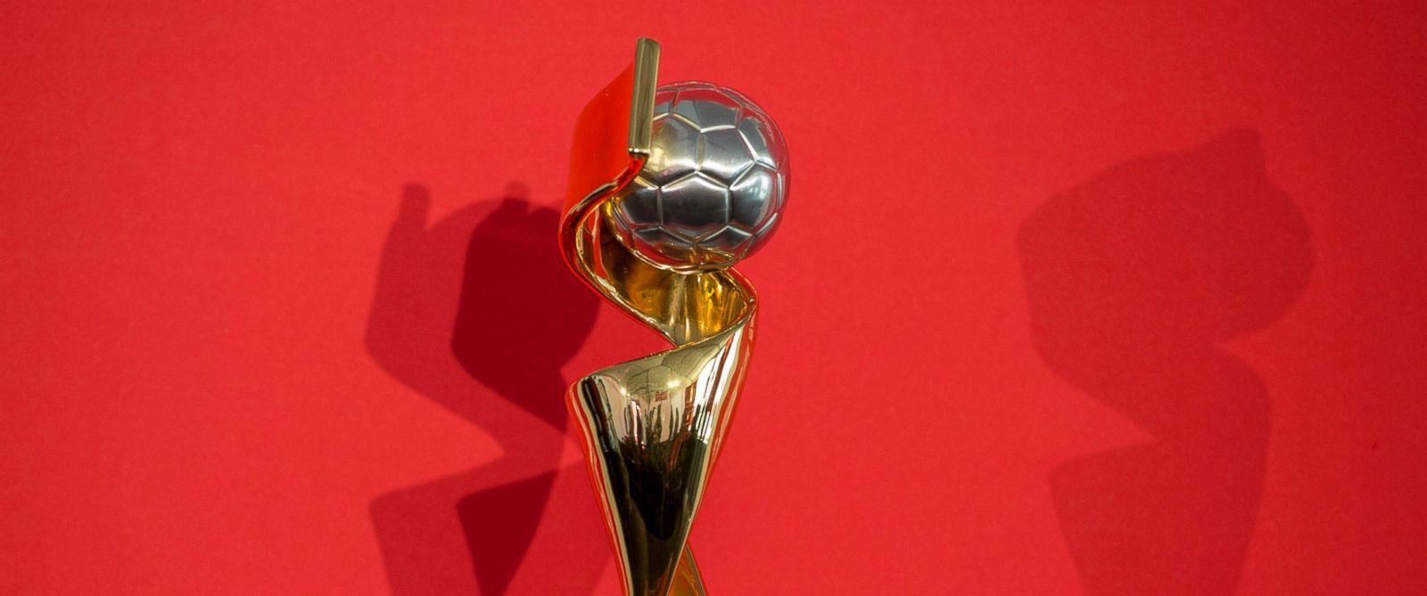 PHOTO: The FIFA Womens World Cup trophy is displayed at the trophy tour launch at City Hall, April 1, 2015, in Ottawa.