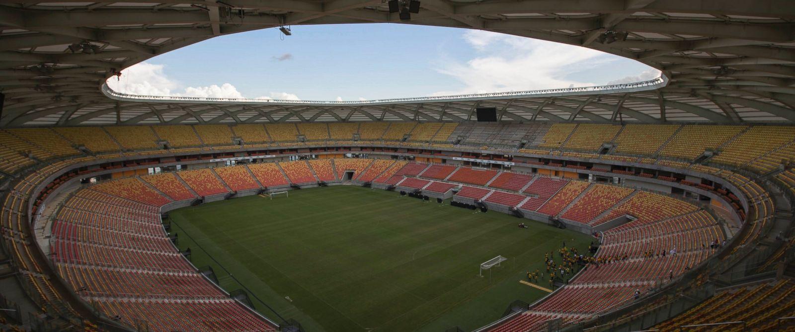 PHOTO: General view of the Arena da Amazonia soccer stadium in Manaus, Brazil, May 20, 2014. .