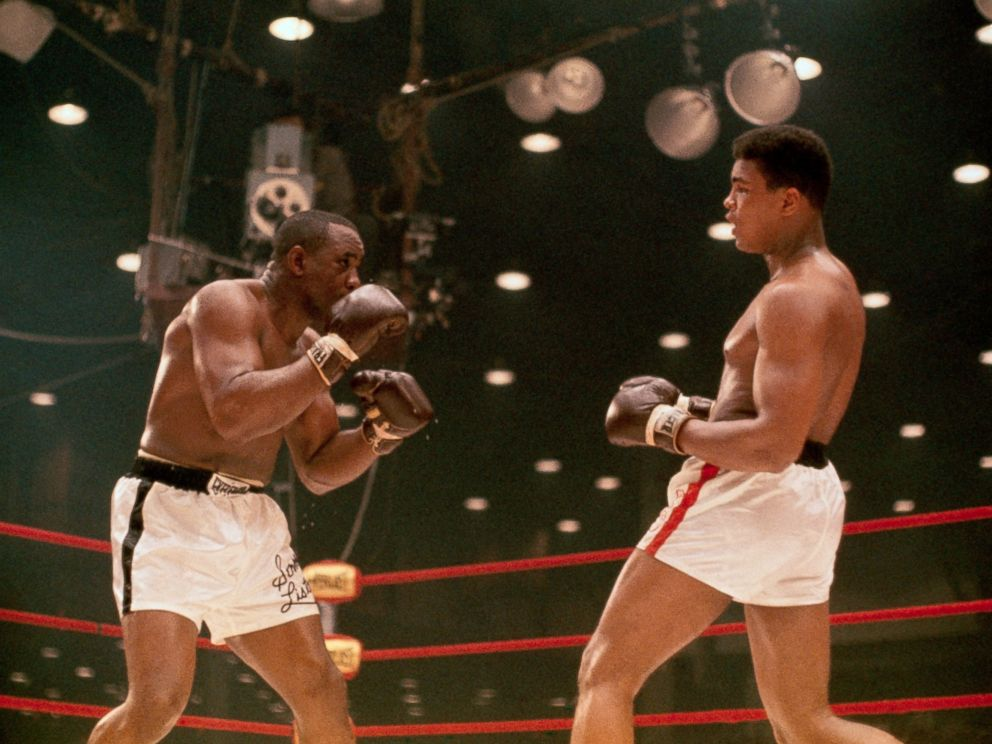 PHOTO: World Heavyweight boxing title bout between champ Sonny Liston, left, and challenger Cassius Clay, aka Muhammad Ali.