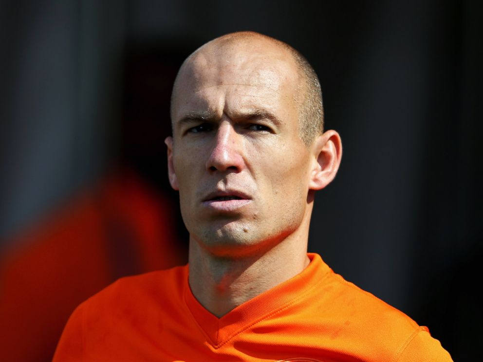 PHOTO: Arjen Robben of the Netherlands is seen during the 2014 FIFA World Cup Brazil Group B match between the Netherlands and Chile at Arena de Sao Paulo on June 23, 2014 in Sao Paulo, Brazil