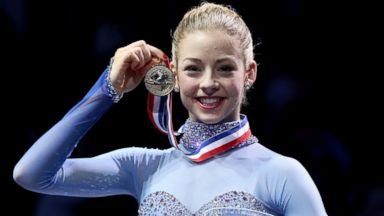 PHOTO: Gracie Gold poses on the medals podium after winning the ladies competition at the Prudential U.S. Figure Skating Championships at TD Garden on Jan. 11, 2014 in Boston.