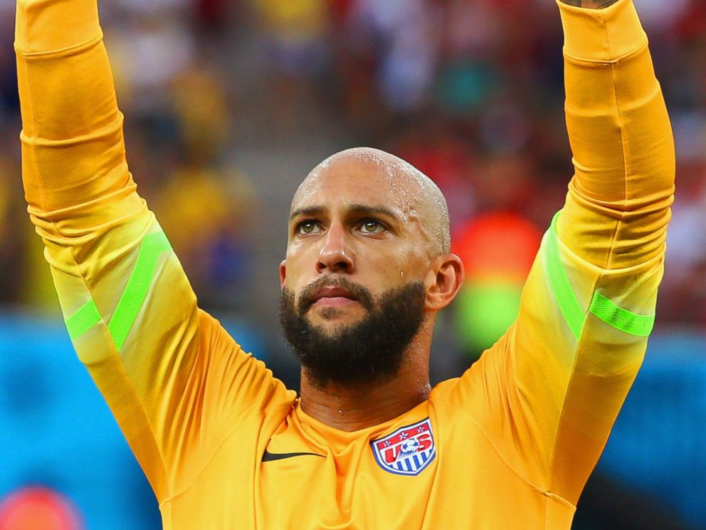 PHOTO: Goalkeeper Tim Howard of the United States in action during the 2014 FIFA World Cup Brazil Group G match between the United States and Portugal at Arena Amazonia, June 22, 2014 in Manaus, Brazil.