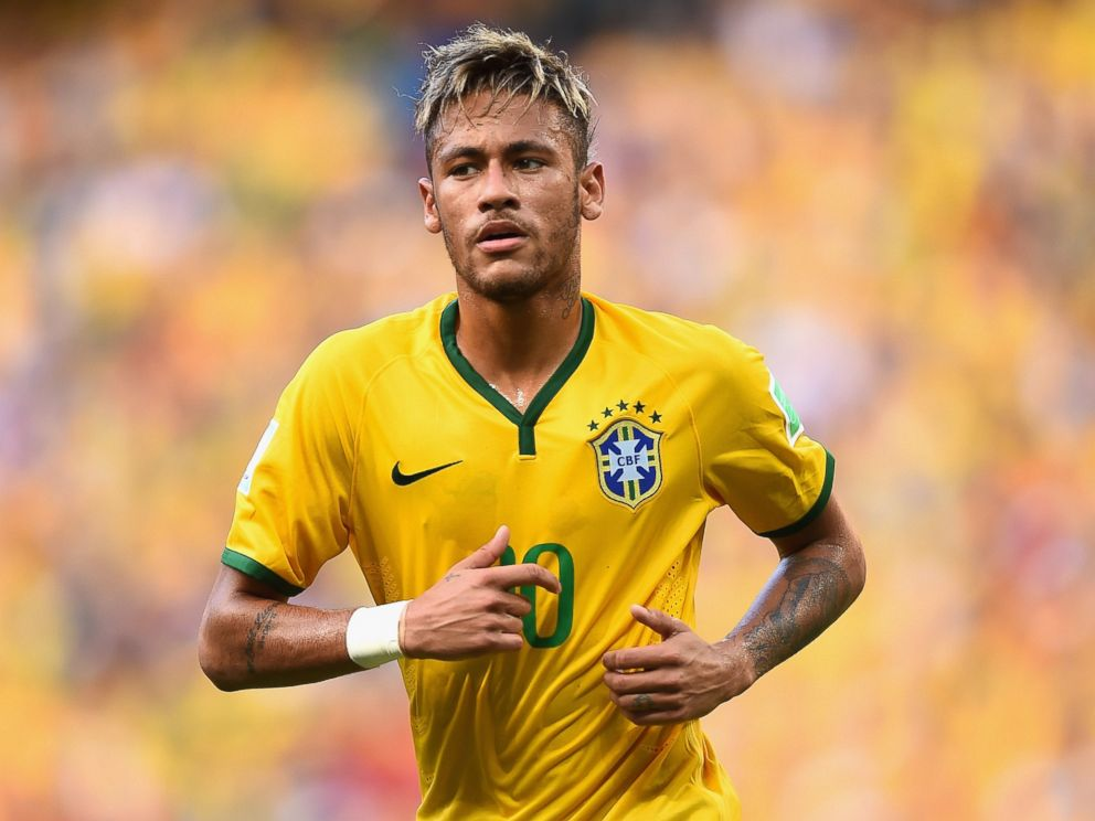 PHOTO: Neymar of Brazil looks on during the 2014 FIFA World Cup Brazil Group A match between Brazil and Mexico at Castelao on June 17, 2014 in Fortaleza, Brazil.