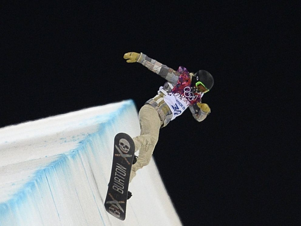 PHOTO: Shaun White practices the Snowboard Halfpipe at the Rosa Khutor Extreme Park