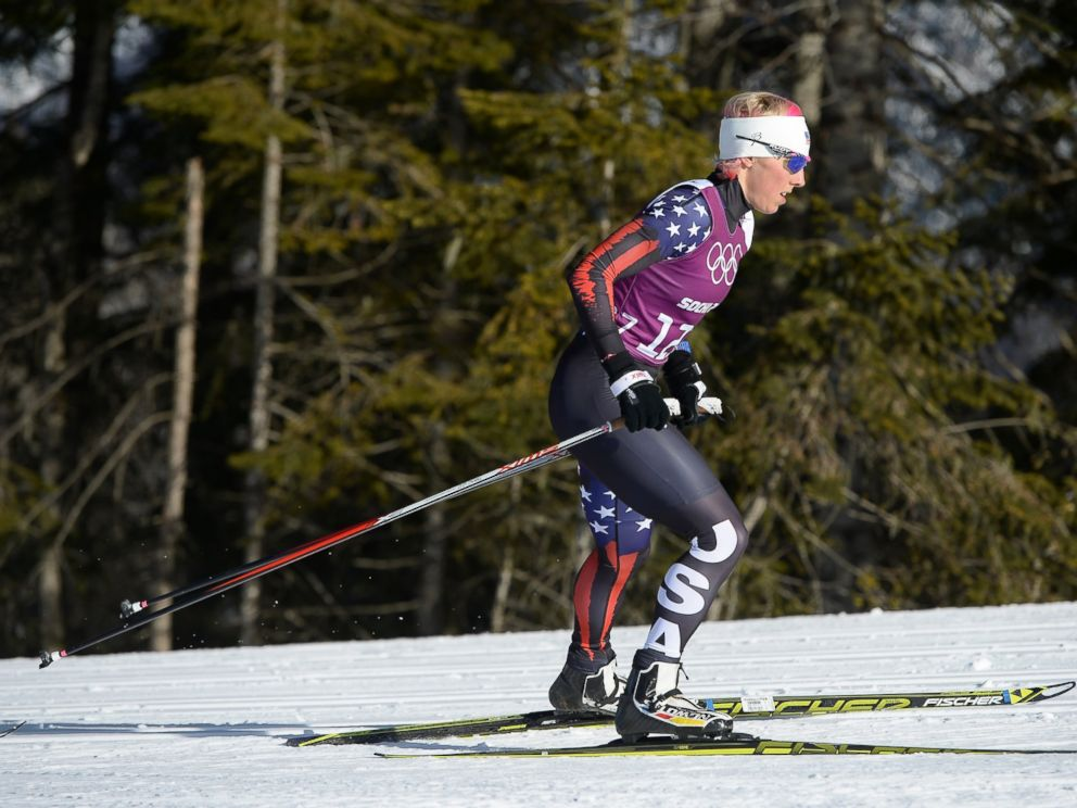 PHOTO: Kikkan Randall of the United States trains ahead of the Sochi 2014 Winter Olympics