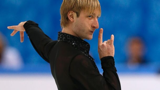 PHOTO: Evgeni Plushenko performs in the mens figure skating team free program at the Iceberg Skating Palace during the Sochi Winter Olympics, Feb. 9, 2014.