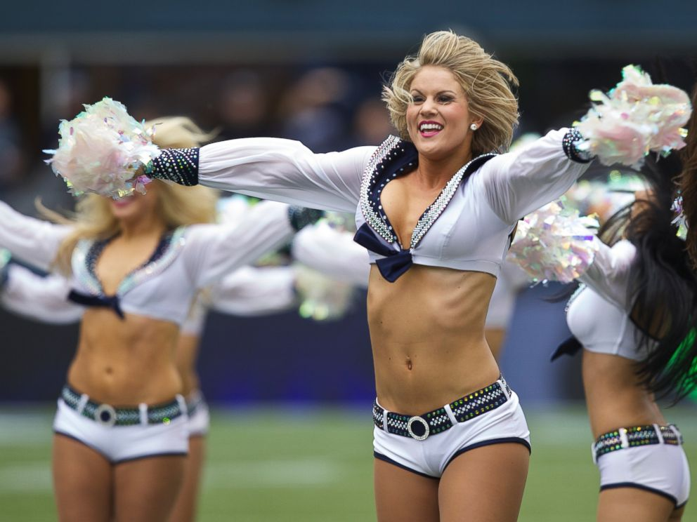 PHOTO: Sea Gals cheerleaders perform before a game between the Seattle Seahawks and the Minnesota Vikings at CenturyLink Field in Seattle, Wash., Nov. 4, 2012.
