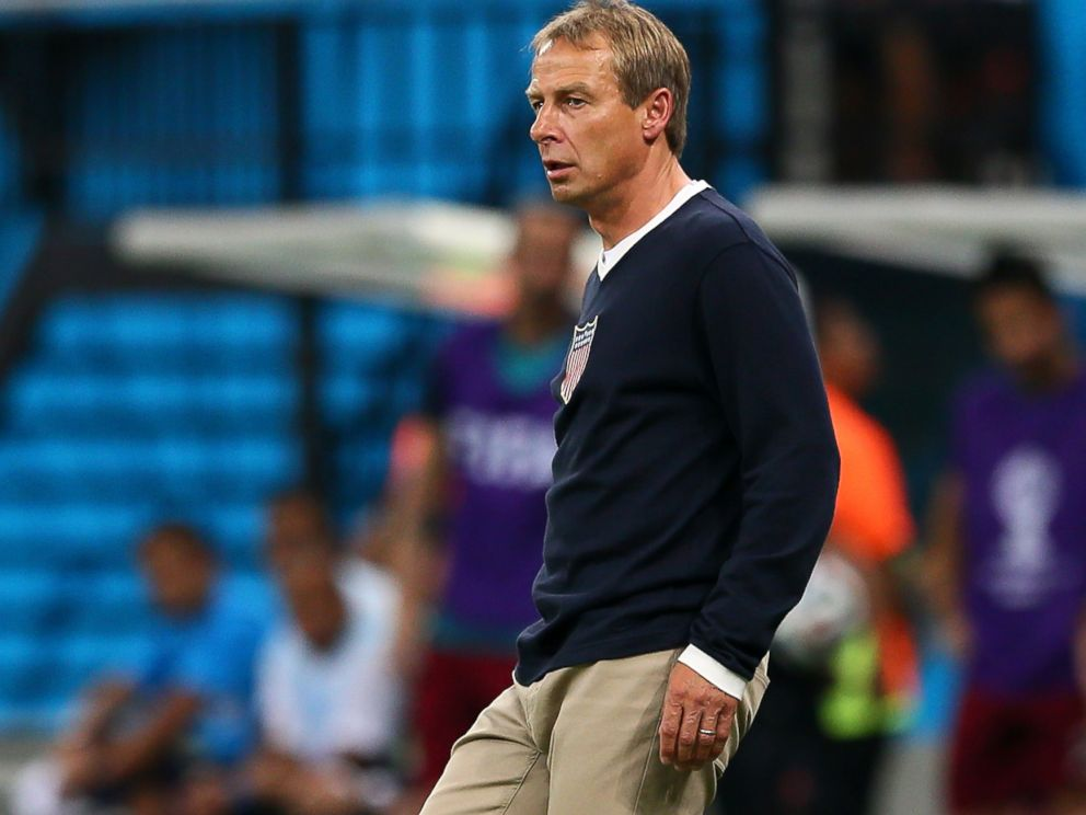PHOTO: Head coach Jurgen Klinsmann of the United States stands on the sideline during the 2014 FIFA World Cup Brazil Group G match between the United States and Portugal at Arena Amazonia, June 22, 2014 in Manaus, Brazil.
