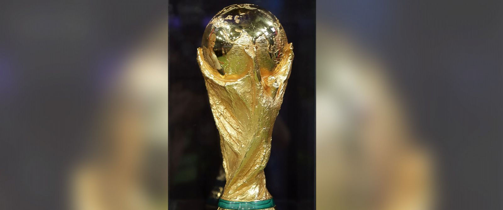 PHOTO: General view of the FIFA World Cup Trophy at Univision Headquarters on April 15, 2014 in Miami, Fla.