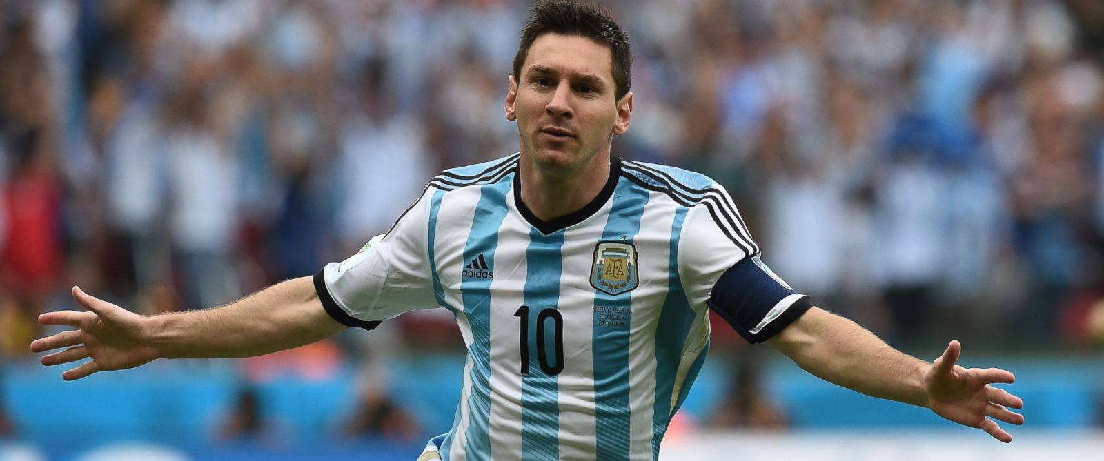PHOTO: Argentinas forward and captain Lionel Messi