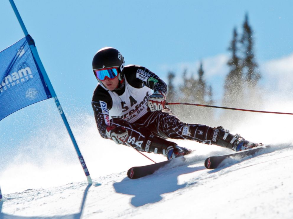 PHOTO: Ronnie Berlack skis past a slalom flag at the U.S. Ski Team Speed Center at Copper Mountain