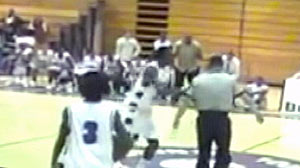 PHOTO: Mason Hollands Outburst on the Court, Could Land Him Court Basketball Player Slams Referee to the Floor, Could Face Felony Charges