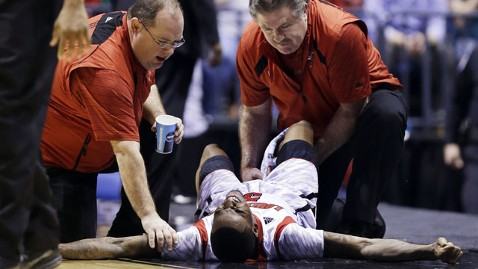 University of Louisville basketball player Kevin Ware suffered a horrific broken right leg during Sunday's NCAA Midwest Regional final that left his teammates