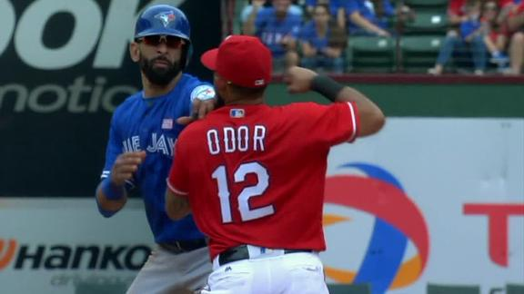 Rougned Odor punches Jose Bautista in the face during brawl - ABC News