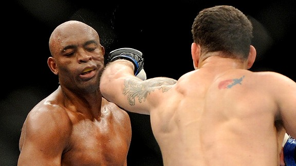 Chris Weidman and Anderson Silva