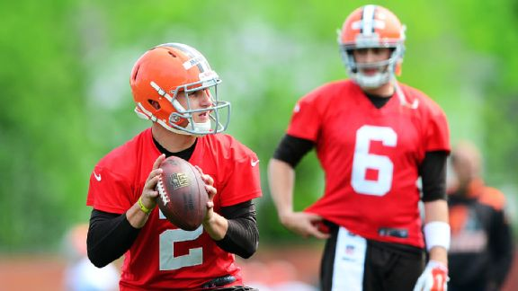 Johnny Manziel and Brian Hoyer