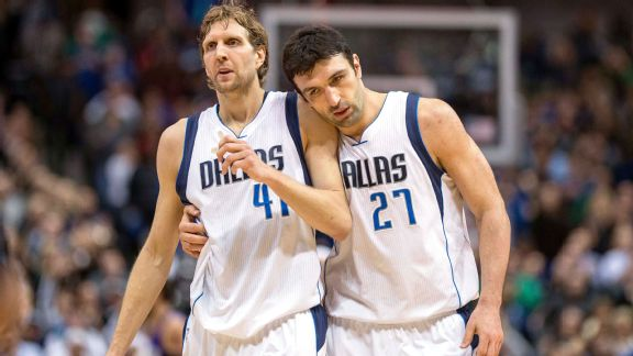 Dallas Dirk Nowitzki and Zaza Pachulia