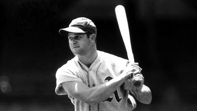 PHOTO: Jimmie Foxx, first-baseman and slugger for the Philadelphia Athletics, shown in this 1930 file photo.