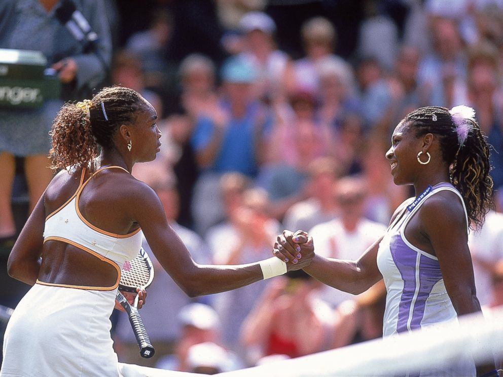 PHOTO: Venus Williams beat her younger sister Serena during the semi-final game at Wimbledon on July 6, 2000.
