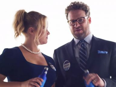 PHOTO: Amy Schumer and Seth Rogen appear in an ad for Bud Light beer posted to YouTube on Jan. 21, 2016.