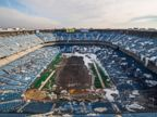 PHOTO: Photographer Johnny Joo of Cleveland, Ohio photographed the Silverdome in Pontiac, Mich. in November, 2014.