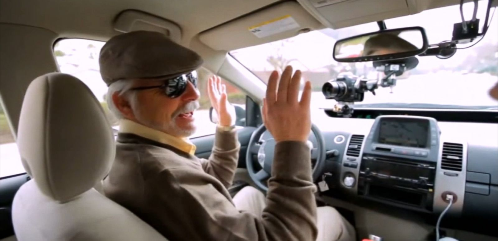 VIDEO: Steve Mahan is giving the company's self-driving car a test ride.
