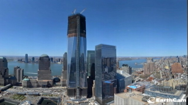 VIDEO: Time-lapse images show construction of 1 World Trade Center between 2004 and 2012.