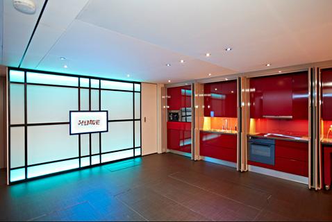 8 yo home kitchen doors open ll 121121 wblog Yo! Home: The Convertible Apartment
