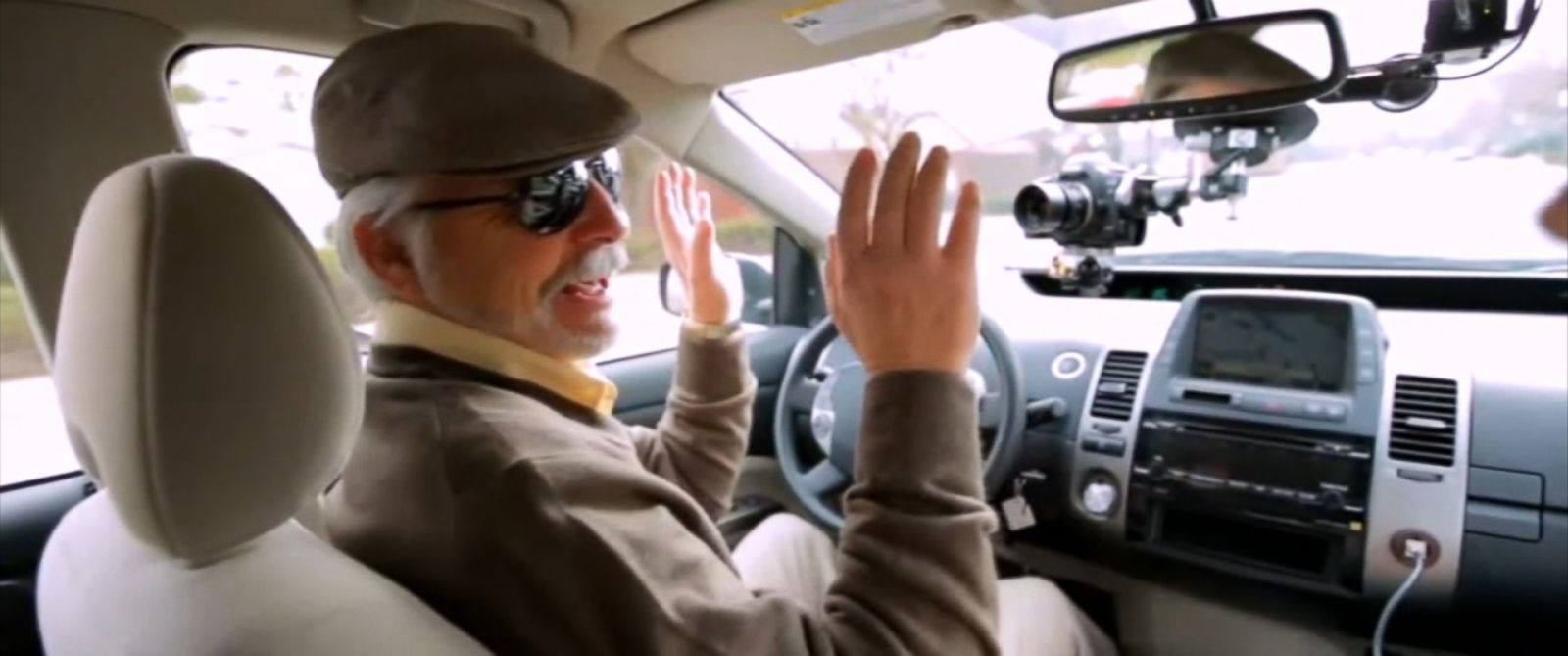 PHOTO: Steve Mahan, who is blind, took a test ride in Googles self-driving car after the federal government ruled the cars computer brain can be classified as a driver.