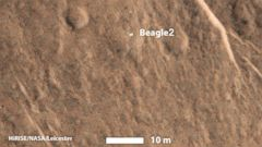 PHOTO: The Beagle 2 Mars Lander was spotted on the surface of Mars, authorities announced Jan. 16, 2015.