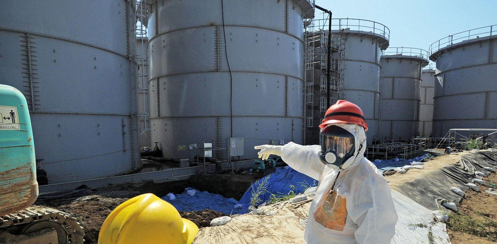 PHOTO: storage tanks at the Fukushima Dai-ichi nuclear plant