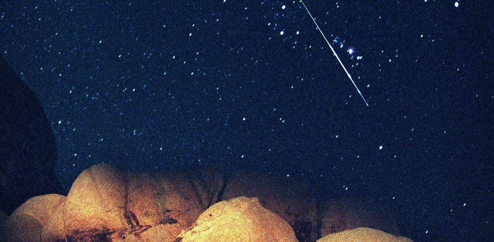 PHOTO: A bright Perseid Meteor