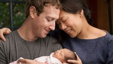 PHOTO: Mark Zuckerberg and his wife, Dr. Priscilla Chan, with their new daughter Max, in a picture posted on Chans Facebook page along with a letter.