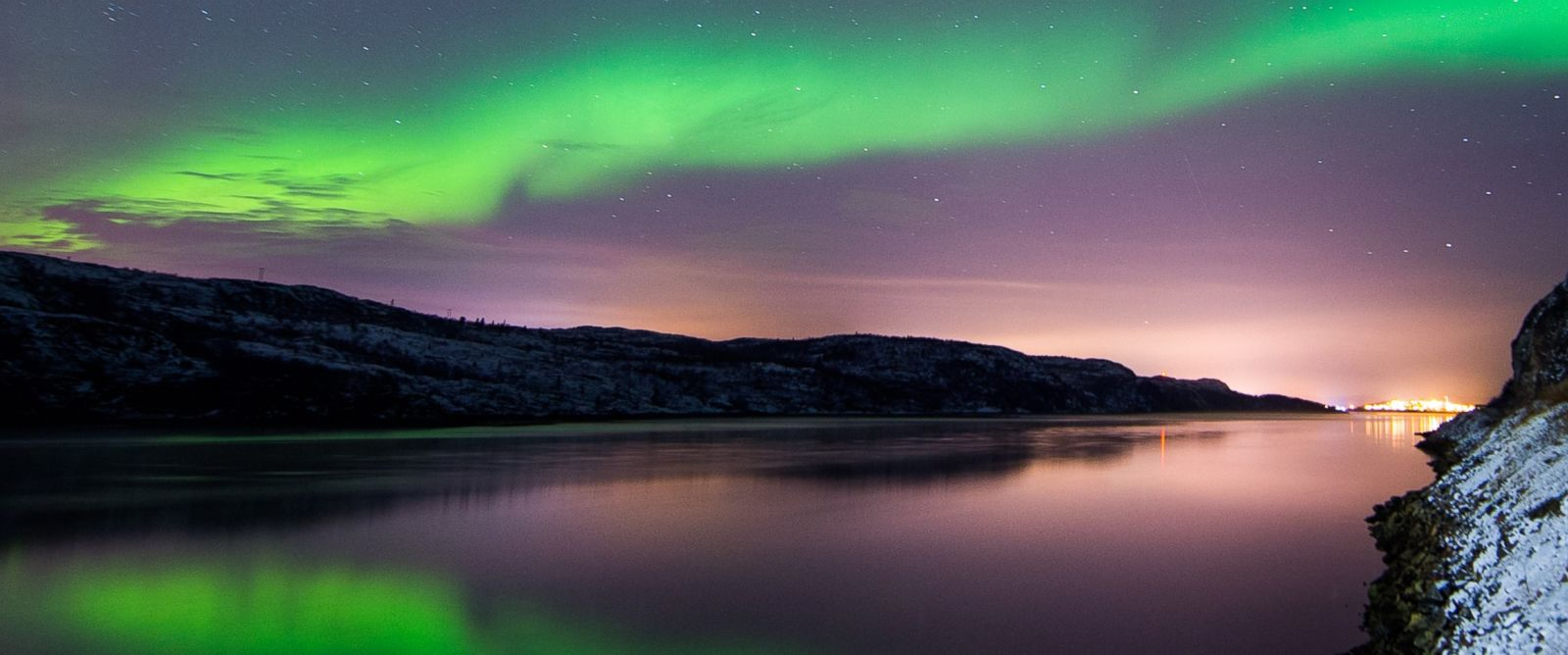 PHOTO:In this file photo, the Aurora Borealis illuminate the night sky, Nov. 12, 2015, near the town of Kirkenes in northern Norway.