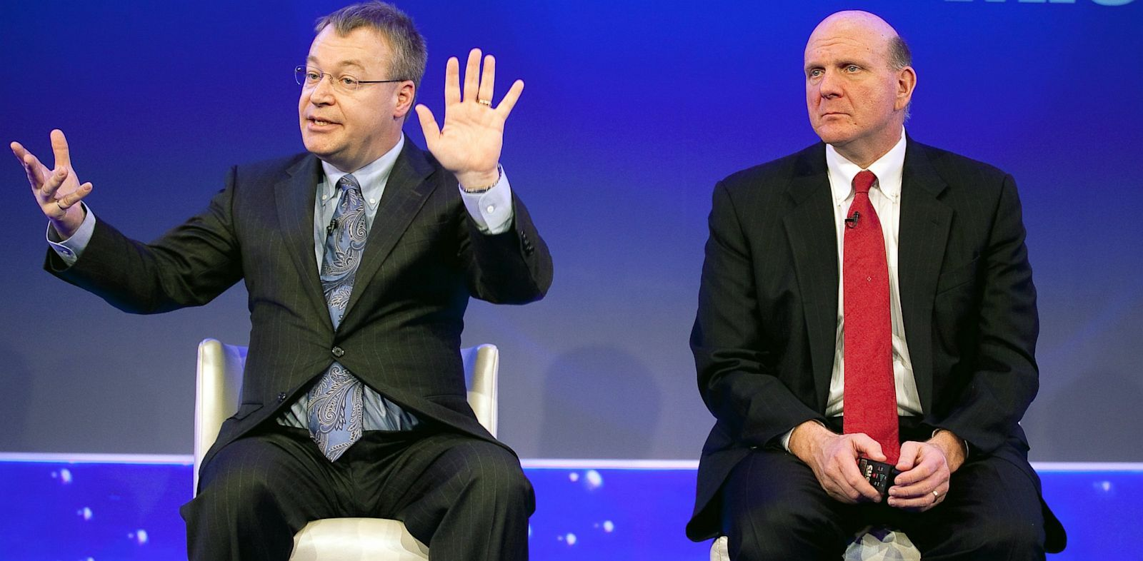 PHOTO: Stephen Elop and Steve Ballmer