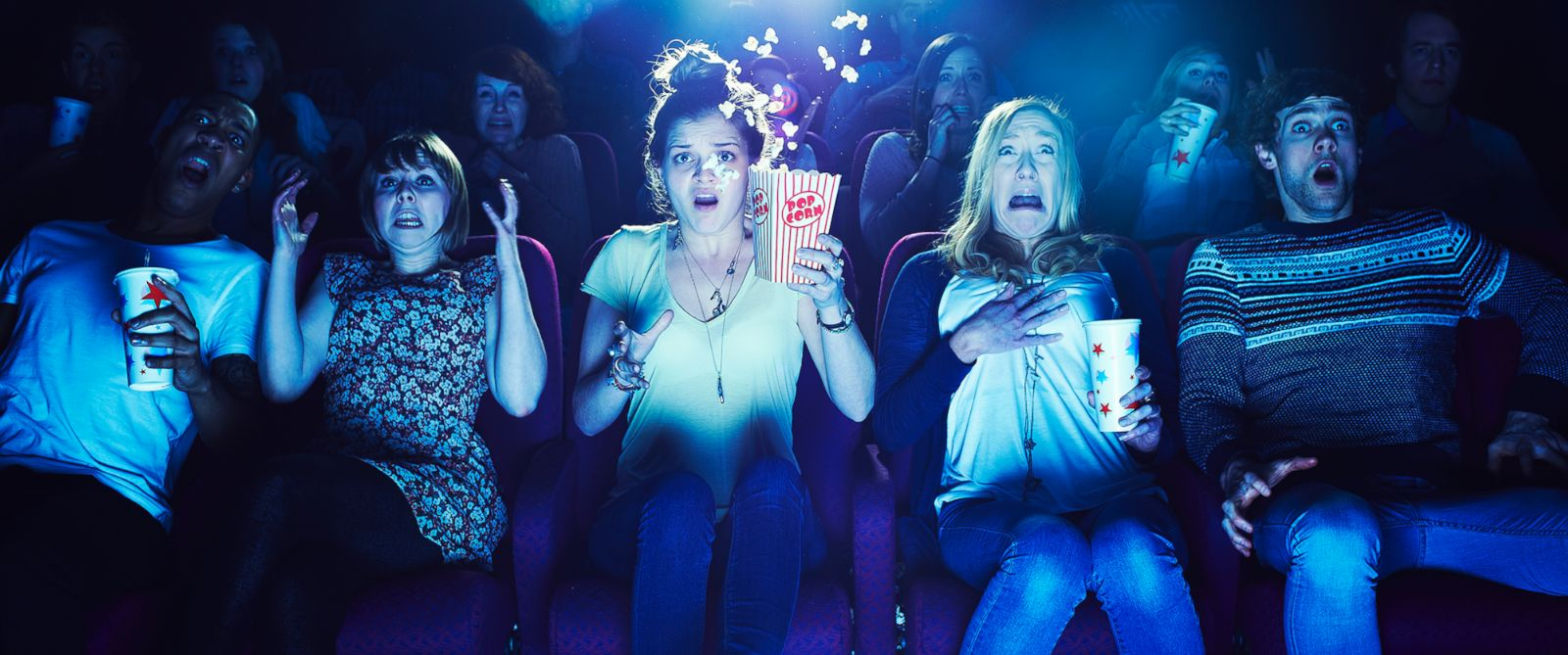 PHOTO: People enjoy a horror film in this undated file photo.