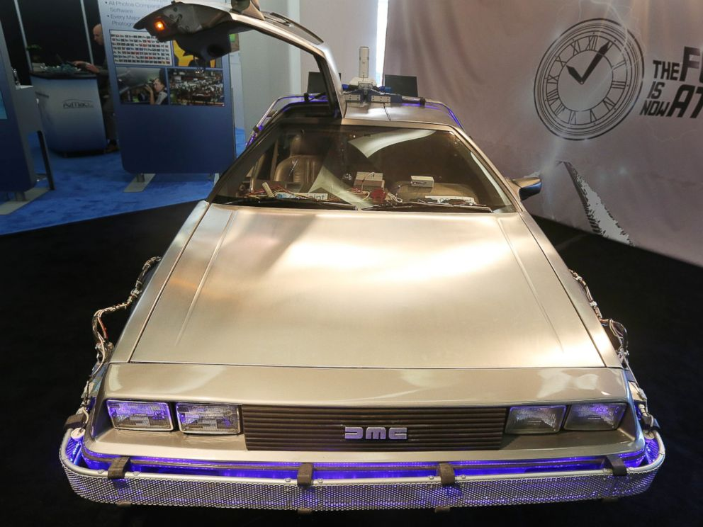 PHOTO: The DeLorean DMC-12 from Back to the Future II is pictured in Detroit on Jan. 14, 2014.