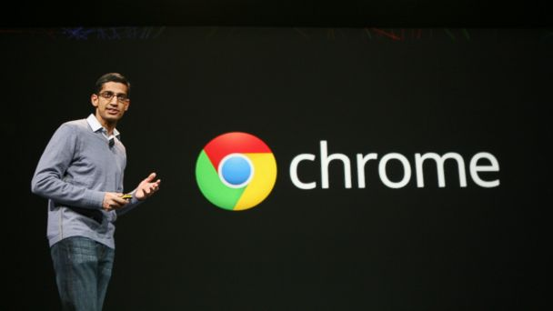 PHOTO: Sundar Pichai, senior vice president of Chrome, speaks at Googles annual developer conference, Google I/O, in San Francisco in this June 28, 2012, file photo.