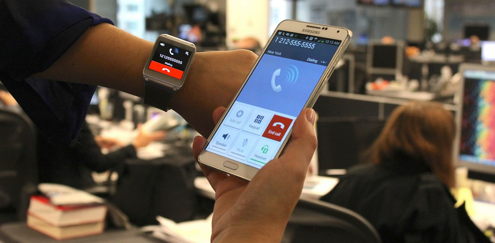 PHOTO: Galaxy Gear smartwatch.