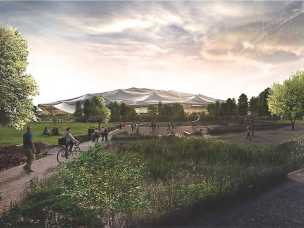 PHOTO: Rendering of the proposed Google campus.