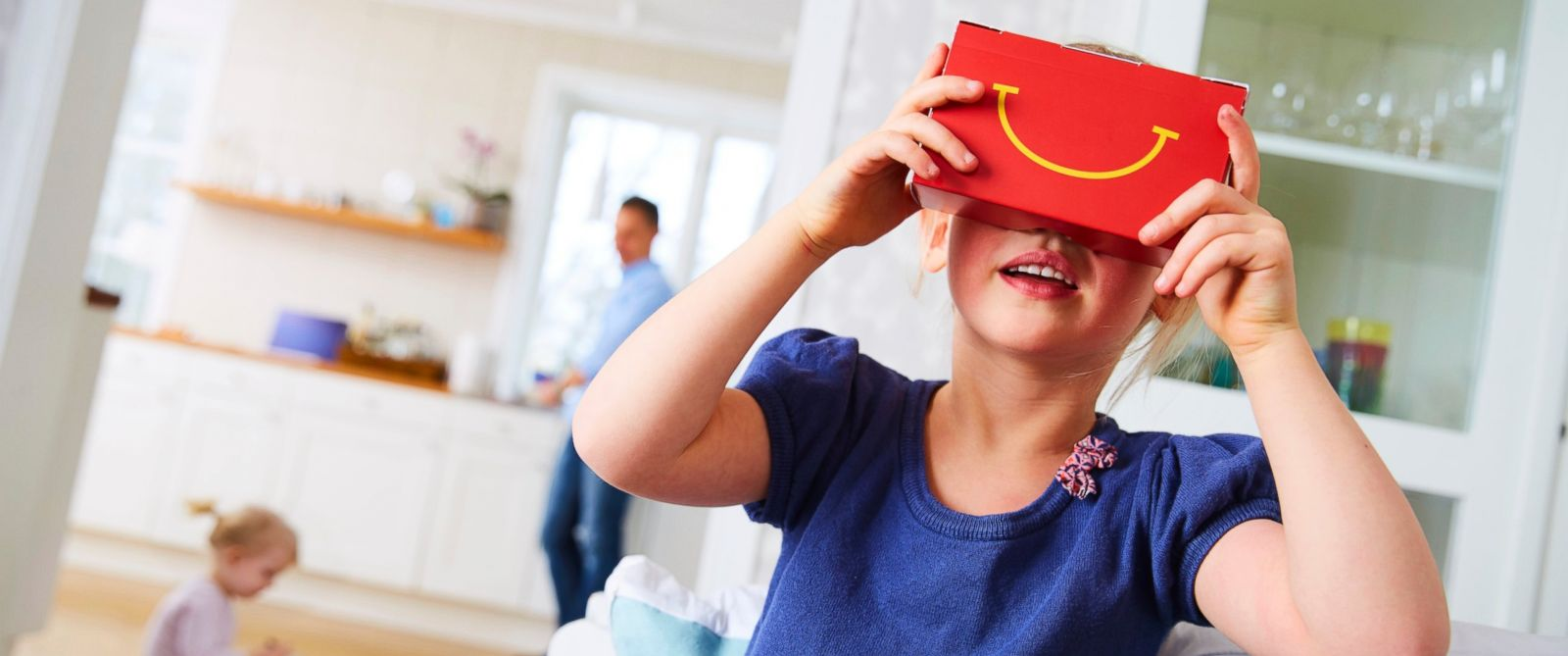 PHOTO: McDonalds in Sweden is offering VR goggles made from Happy Meal boxes.
