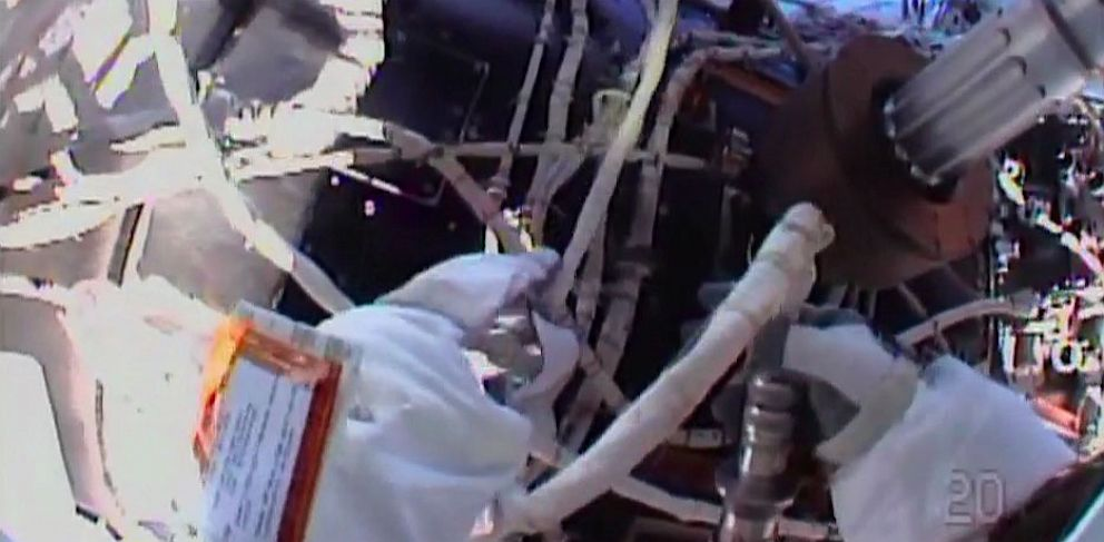 PHOTO: Astronaut Chris Cassidy International Space Station space walk.