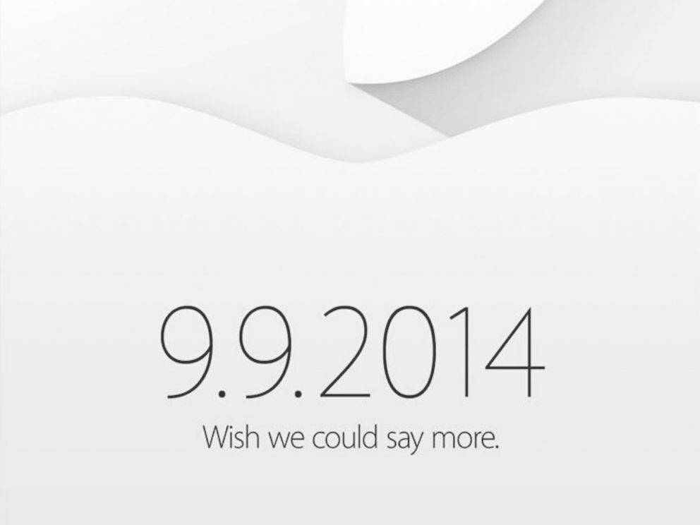 PHOTO: An invitation to a special event taking place on Sept. 9, 2014 from Apple