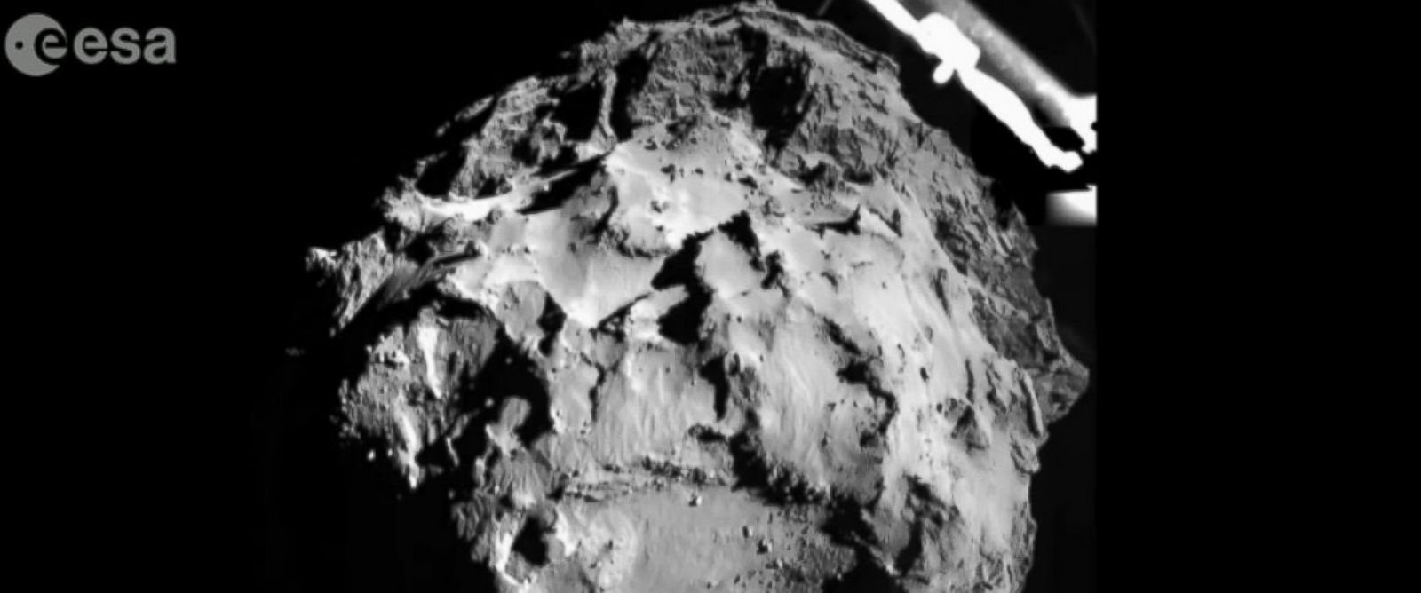 PHOTO: An image of the comet 67P is seen in those photo that was taken from less than two miles away.