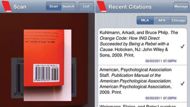 PHOTO: Scan a books bardcode and it will make a bibliography for you.