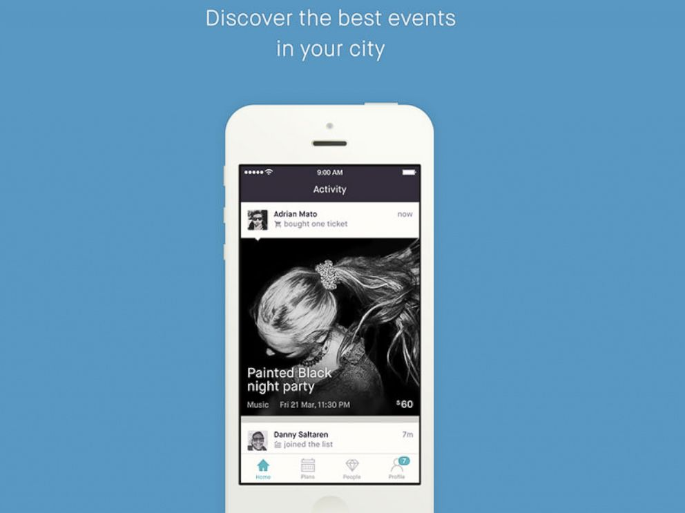 PHOTO: The Fever app allows people to discover events in their area.
