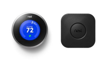 PHOTO: The Nest Protect smoke detector and Nest thermostat work with your phone.