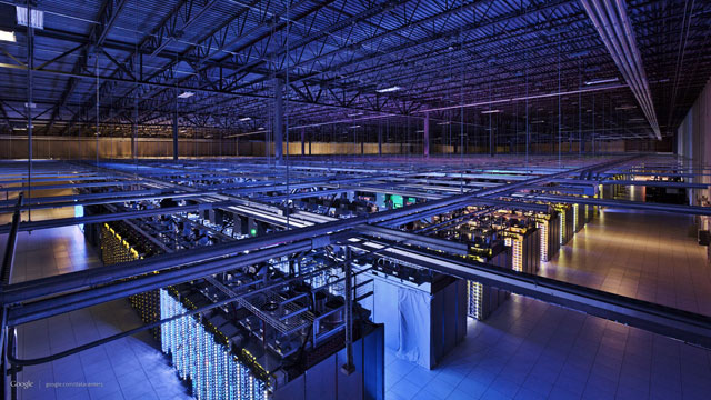 PHOTO: A look behind the scenes at the physical heart of the Internet, one of the giant data centers for Google in Council Bluffs, Iowa.
